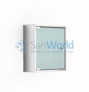 Шкаф со стеклянной дверцей и полкой настенный PIKA Lineabeta