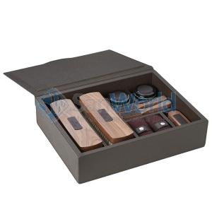 LUNA аксессуары для ухода за обувью в красивом кожаном боксе GioBagnara