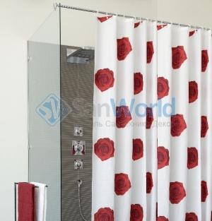 SCARLET шторка для ванны и душа текстильная