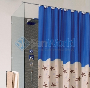 KARIBIK шторка для ванны и душа текстильная