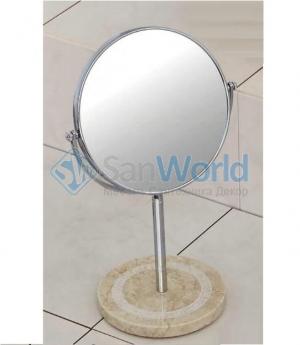Julia Nicol зеркало косметическое настольное двухстороннее с увеличением 1х1 и 1х3 мраморное