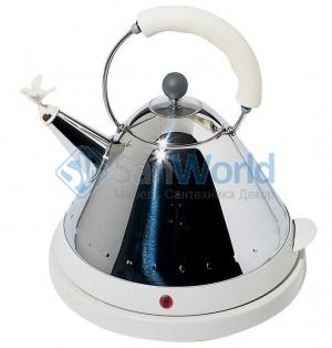Чайник электрический со свистком белый