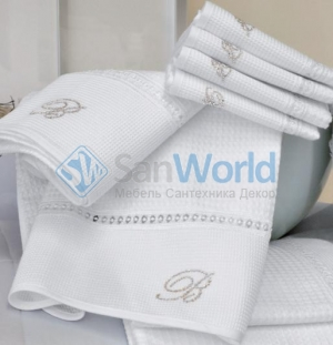 Комплект полотенец для лица и рук (40х60; 60х110) Cheryl (Черил) Белый от Blumarine