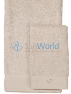 Комплект полотенец для лица и рук (40х60; 60х110) Crociera (Кросиера) Молочный от Blumarine