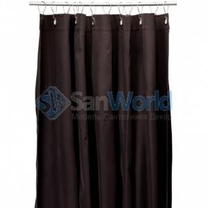 Текстильные шторки для ванны и душа Коричневая Brown