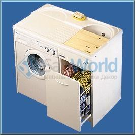 Мебель постирочная раковина с крылом для стиральной машины Белая Colavene
