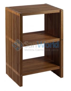 Ferdinand Nicol напольная этажерка для ванной деревянная с 3-мя полками