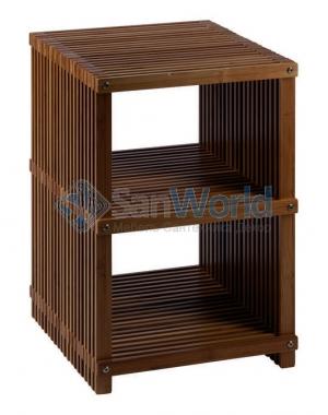 Finn напольная этажерка для ванной деревянная с 3-мя полками