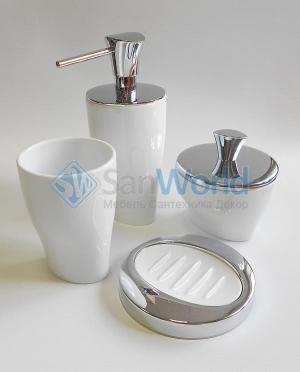 Momentum Nicol белые аксессуары для ванной фарфоровые настольные
