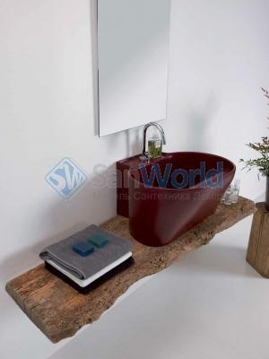 Постирочная раковина керамическая красная Vinaccia Tino Colavene мебель итальянская