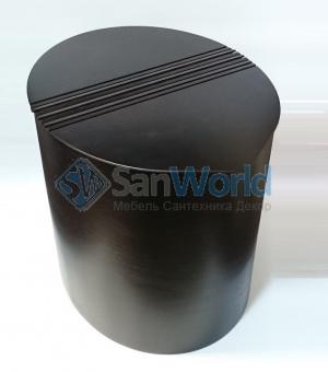Корзина для белья Buk Oval овальная деревянная Wenge