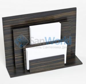 Wood Collection деревянные аксессуары для рабочего стола держатель для бумаг вертикальный Эбеновое дерево