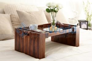 Wood Collection деревянный столик для постели розовое дерево Santos