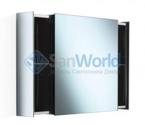 Зеркальный шкаф с перекатной дверцей настенный PIKA Lineabeta