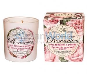 Nesti Dante Romantica Rosa Medicea e Peonia Свеча Роза и Пион ароматизированная 160 г