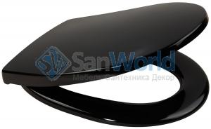 Everest чёрное сиденье для унитаза с микролифтом