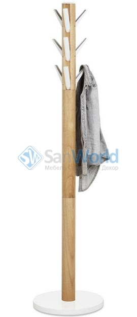 Вешалка Flapper напольная белая-дерево