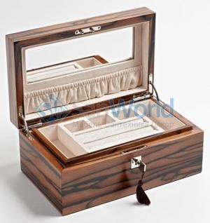 Wood Collection бокс для украшений деревянный Эбен Макассар