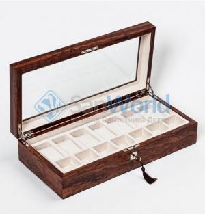 Wood Collection бокс для часов и украшений деревянный Розовое дерево Сантос
