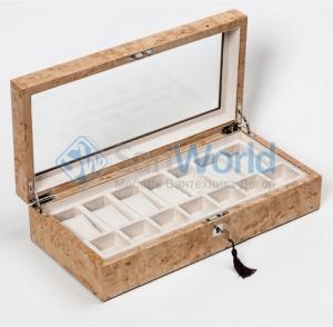 Wood Collection бокс для часов и украшений деревянный Карельская берёза