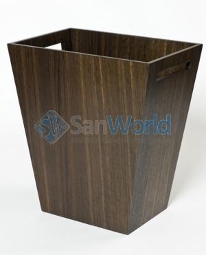 Wood Collection ведро деревянное Дуб тёмный большое