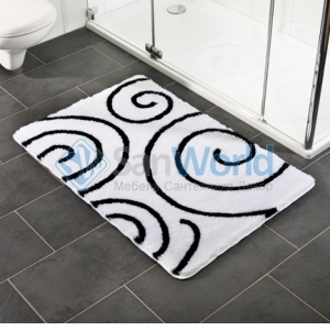 Коврик для ванной комнаты Nicol с декором Kira