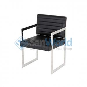 Eichholtz Aspen офисное кресло чёрное кожаное