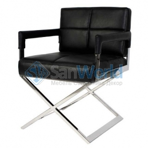 Eichholtz Cross офисное кресло чёрное кожаное