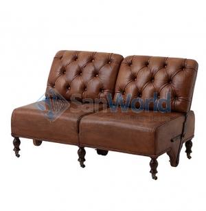 Eichholtz Tete-a-tete диван-трансформер кожаный коричневый