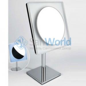 COLOMBO зеркало косметическое настольное с LED подсветкой и увеличением x3 B9755