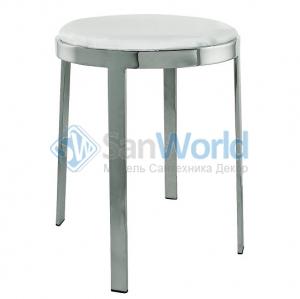 ALISEO Antigua табурет для ванной с белым круглым мягким сиденьем