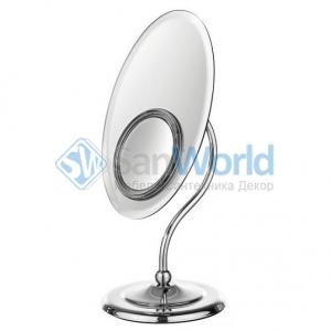 Helena Amelie Nicol косметическое настольное двухстороннее зеркало с LED подсветкой и увеличением 1х1 и 1х5