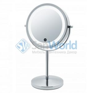 JANINA Nicol косметическое зеркало двухстороннее с подсветкой LED от батареек и пятикратным увеличением настольное