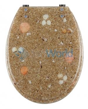 Seabed сиденье для унитаза с микролифтом крышки морской декор песок и ракушки