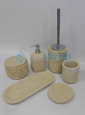 Аксессуары для ванной настольные из натурального камня Muso