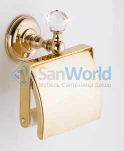 Аксессуары для ванной с кристаллами Swarovski Rifles держатель туалетной бумаги золотой