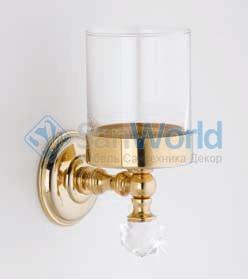 Аксессуары для ванной с кристаллами Swarovski Rifles стакан золотой