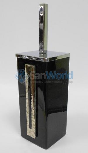 Arches Marmores ёршик для унитаза напольный чёрный керамический квадратный