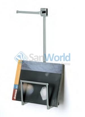 Газетница настенная с держателем для туалетной бумаги Ozi квадрат