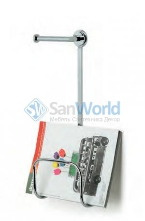 Газетница настенная с держателем для туалетной бумаги Ozi