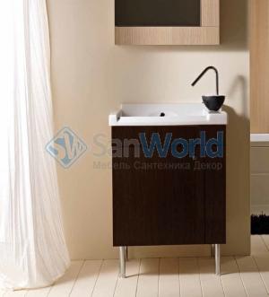 Мебель для постирочной Cily Colavene Глубокая раковина для стирки керамическая Венге
