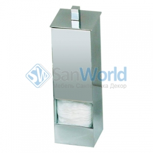 Контейнер для ватных дисков квадратный Vatt