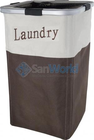 HILDA Корзина для белья текстильная с каркасом коричневая бежевая