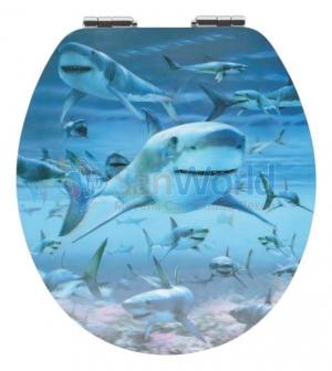 HAIE сиденье для унитаза с микролифтом крышки 3D декор Акулы
