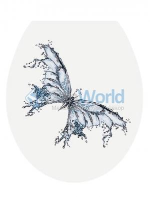 PAPILIO сиденье для унитаза с микролифтом крышки 3D декор водяная Бабочка
