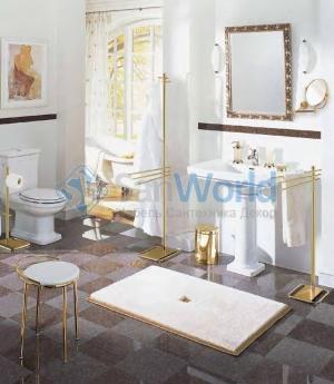 Коврик для ванной комнаты на заказ из Германии PIAZZA Nicol люрекс золотой серебряный. Индивидуальное производство на заказ