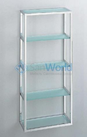 ET8 Настенная полка для ванной этажерка стеклянная 5 полок