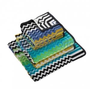 Комплект полотенец Stan зеленый/синий