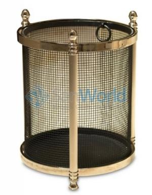 Ведро Acorn Wastebasket-Black/Nickel