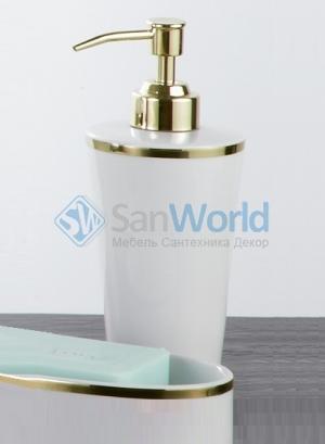 Sofia Nicol аксессуары для ванной фарфоровый настольный золотой Дозатор